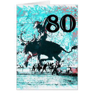 80th Birthday Gifts, Cowboy! Greeting Cards