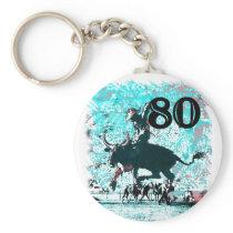 80th Birthday Gifts, Cowboy! Keychain