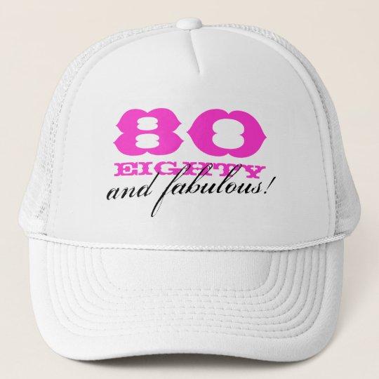80th Birthday Hat For Women