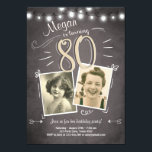 "80th Birthday Invitation Vintage Eighty Birthday<br><div class=""desc"">♥ A perfect way to invite your guests to this special birthday party!</div>"