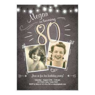 80th birthday invitations zazzle 80th birthday invitation vintage eighty birthday filmwisefo