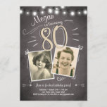 """80th Birthday Invitation Vintage Eighty Birthday<br><div class=""""desc"""">♥ A perfect way to invite your guests to this special birthday party!</div>"""