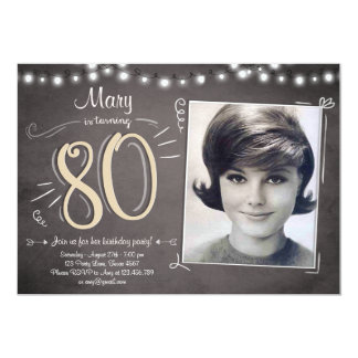 80th Birthday Invitations & Announcements | Zazzle