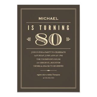 80th Birthday Invitations for Men