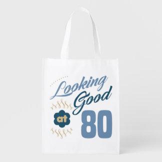 80th birthday Looking Good Reusable Grocery Bag