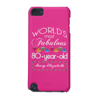 80th Birthday Most Fabulous Colorful Gems Pink iPod Touch 5G Cover