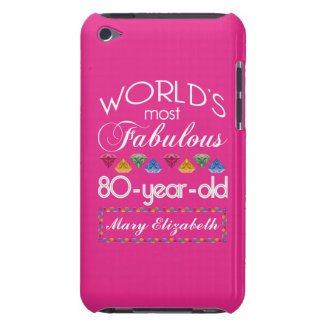 80th Birthday Most Fabulous Colorful Gems Pink iPod Touch Cover