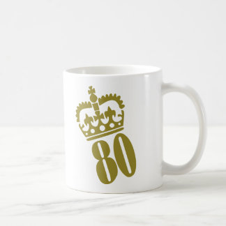 80th Birthday - Number – Eighty Coffee Mug