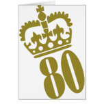 80th Birthday - Number – Eighty Greeting Cards
