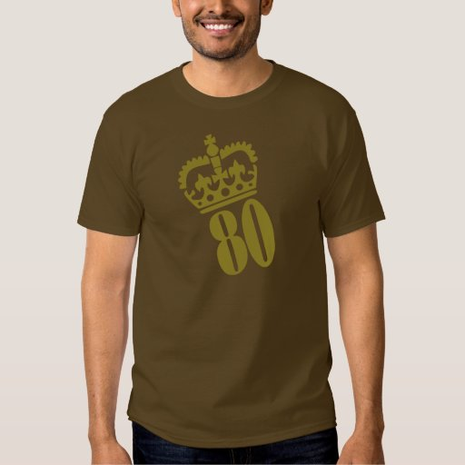 80th Birthday - Number – Eighty T Shirts