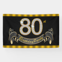 80th Birthday Party Banner