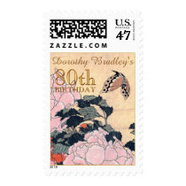 80th Birthday Party Butterfly Customizable Postage