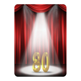 80th Birthday Party Card