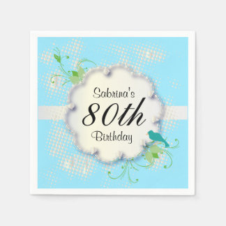 80th Birthday Party | DIY Text Napkin