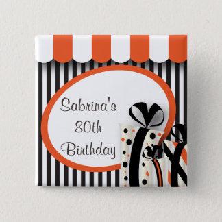 80th Birthday Party   DIY Text   Orange Button