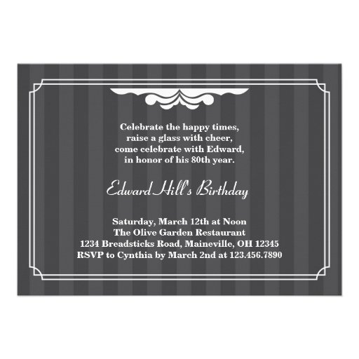 Most popular 80th birthday party invitations custominvitations4u 80th birthday party elegant invitation filmwisefo