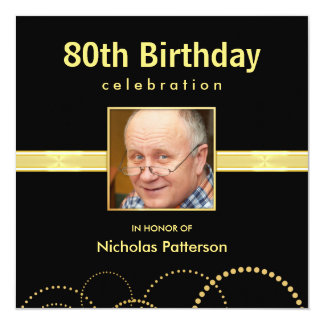 80th Birthday Party Formal - Photo Optional Card
