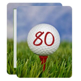 80th Birthday Party Golf theme Invitation