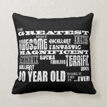 80th Birthday Party Greatest Eighty Year Old Throw Pillow