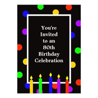 80th Birthday Party Invitation Personalized Announcements