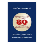 80th Birthday Party Invitation Baseball Cards
