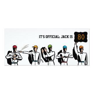 """80th Birthday Party Invitation - Football 4"""" X 9.25"""" Invitation Card"""