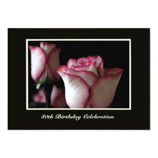 80th Birthday Party Invitation Gorgeous Roses