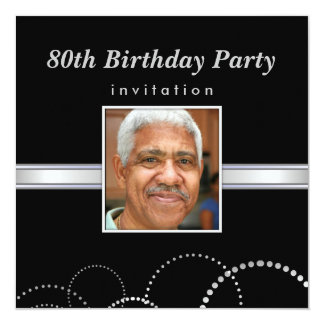 80th Birthday Party - Mens Photo Invitations