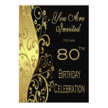 80th Birthday Party Personalized Invitation
