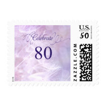 80th Birthday Party Postage Stamps