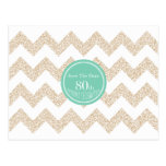 80th Birthday Party - Save the Date - Choose Color Postcard