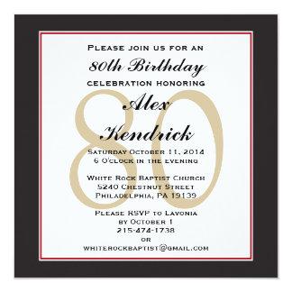 80th Birthday Invitations & Announcements | Zazzle