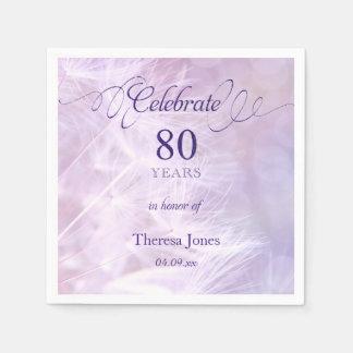 80th Birthday Party Standard Cocktail Napkin