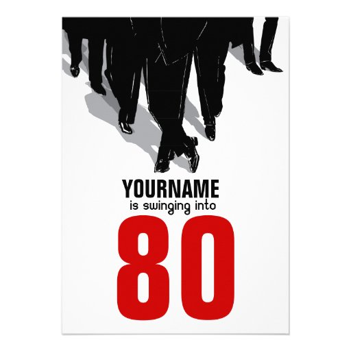 80th Birthday Party Swingers Rat Pack Invite