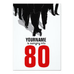 """80th Birthday Party Swingers Rat Pack 5"""" X 7"""" Invitation Card"""
