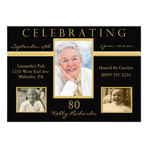 Eightieth Birthday Invitations was best invitation template