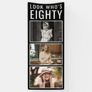 80th Birthday Photo Banner