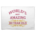 80th. Birthday Placemats