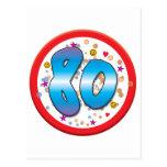 80th Birthday Postcard