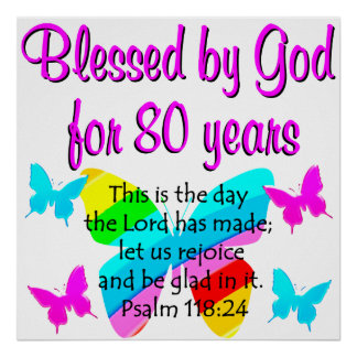 80TH BIRTHDAY PRAYER POSTER
