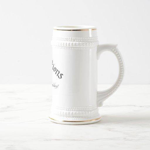 80th Birthday Stein Coffee Mug