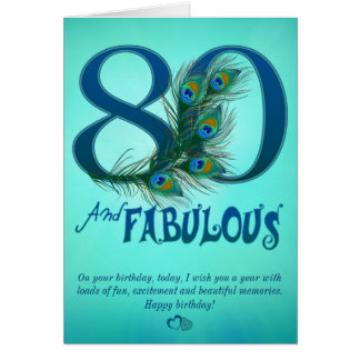 80th Birthday template Cards