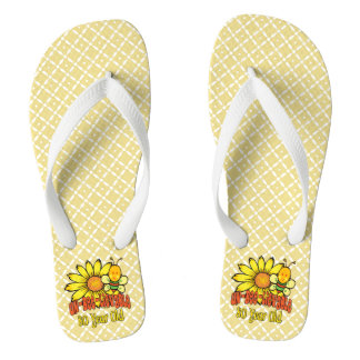 80th Birthday - Unbelievable at 80 Years Old Flip Flops