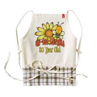 80th Birthday - Unbelievable at 80 Years Old Zazzle HEART Apron