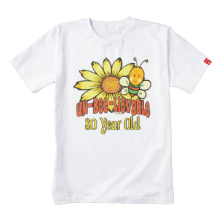 80th Birthday - Unbelievable at 80 Years Old Zazzle HEART T-Shirt