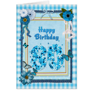 80th  Birthday with a scrapbook effect Card