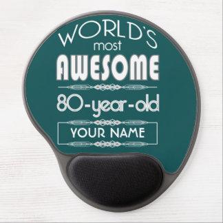 80th Birthday Worlds Best Fabulous Dark Green Gel Mouse Pads