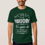 80th Birthday Worlds Best Fabulous Dark Green Shirt