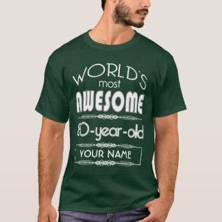 80th Birthday Worlds Best Fabulous Dark Green T-Shirt