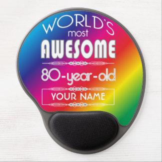 80th Birthday Worlds Best Fabulous Rainbow Gel Mouse Pad